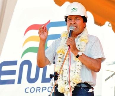 Por-los-apagones,-el-presidente-Morales-culpo-a-tecnicos-infiltrados-y-entrego-una-termoelectrica-en-Cochabamba