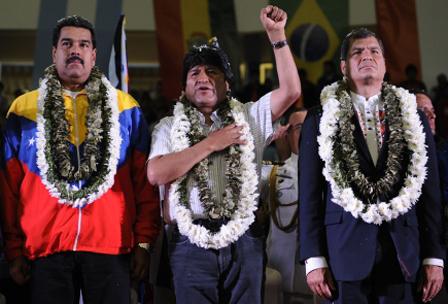 Confirman-que-Evo-Morales-recibira-a-Rafael-Correa-y-Nicolas-Maduro-el-jueves