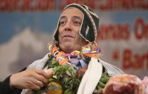 Vicepresidente-desplazo-a-indigenas-y-permitio-el-ingreso-de-los---neoliberales---segun-el-ex-ministro-de-Educacion,-Felix-Patzi