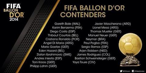 Estos-son-los-23-jugadores-nominados-al-Balon-de-Oro-2014-