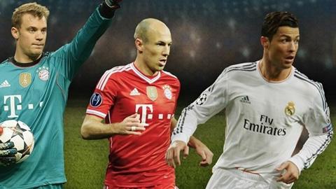 Ronaldo,-Neuer-y-Robben,-candidatos-a-mejor-jugador-europeo-temporada-2013/14