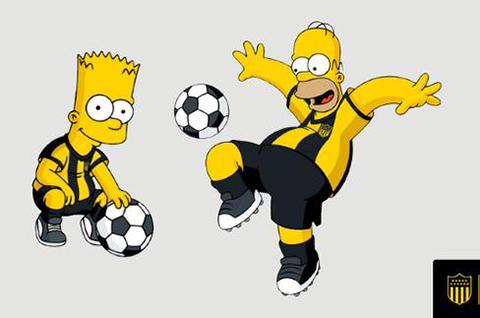 Homero-y-Bart-Simpson-se-vuelven-hinchas-de-Penarol