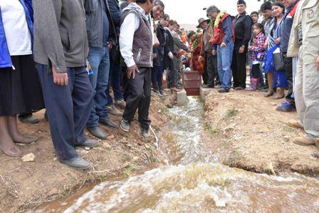 Entregan-sistema-de-riego-en-Cochabamba