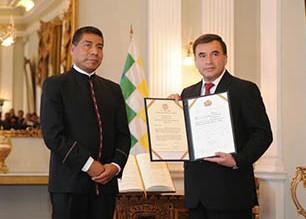 Posesionan-a-ex-ministro-Quintana-como-embajador-en-Cuba