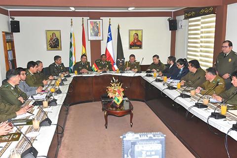 Policias-de-Bolivia-y-Chile-instalan-reunion-en-La-Paz-para-optimizar-lucha-conjunta-contra-ilicitos