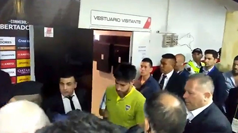 Pablo-Perez-fue-trasladado-al-hospital-tras-incidente-con-el-bus-de-Boca