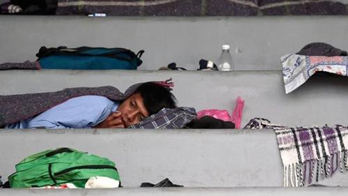 Caravana-de-migrantes:-los-primeros-viajeros-llegan-a-la-Ciudad-de-Mexico,-un-punto--crucial--en-su-viaje