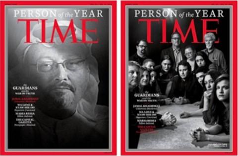 La-revista--Time--nombra-personas-del-ano-a-Jamal-Khashoggi-y-a-otros-periodistas-perseguidos