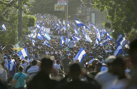 Multitudinarias-protestas-en-Nicaragua-para-pedir-la-dimision-de-Daniel-Ortega