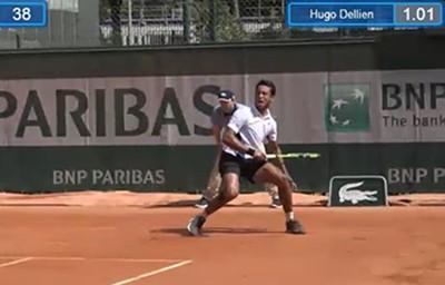 Hugo-Dellien-vencio-a-Ilia-Marchenko-en-Roland-Garros