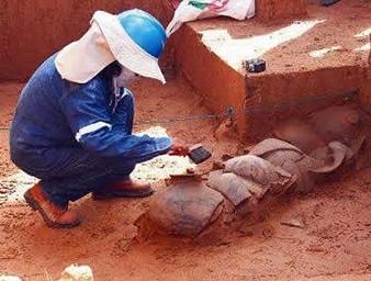 Unas-800-bolsas-con-restos-arqueologicos-de-la-cultura-Chane-son-encontrados-durante-la-construccion-de-una-carretera