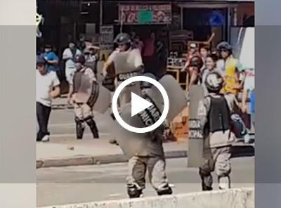 Video-muestra-enfrentamientos-entre-comerciantes-y-gendarmes-en-La-Ramada