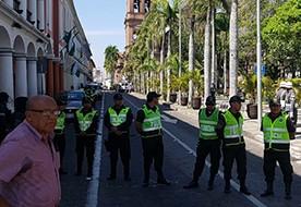 -Romero-asegura-que-cerco-policial-a-plaza-24-de-Septiembre-fue-dentro-control-normal