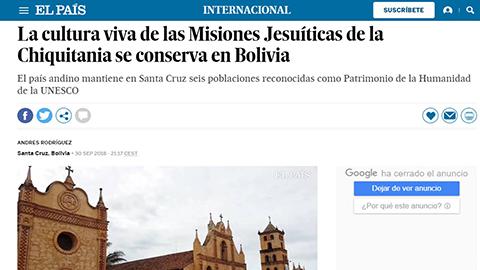 Diario-espanol-destaca-conservacion-de-las-Misiones-Jesuiticas-en-Bolivia