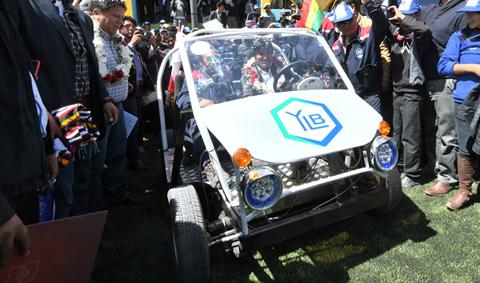 Evo-estrena-el-primer-vehiculo-que-usa-litio-boliviano