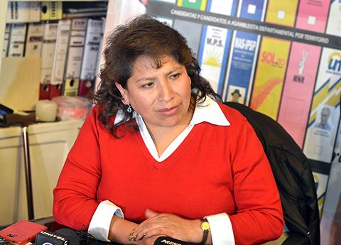 La exvocal Chuquimia dice hay 12 copias de las actas
