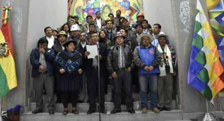 La Conalcam se declara en emergencia y llama a defender la victoria de Morales
