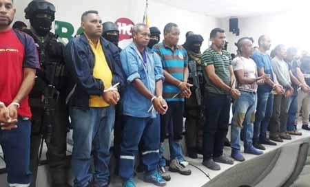 Venezolanos aprehendidos por presunta sedición