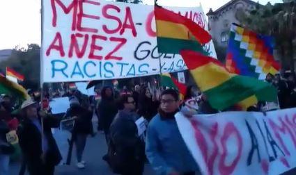 Barcelona, escenario de protestas a favor y en contra Evo Morales