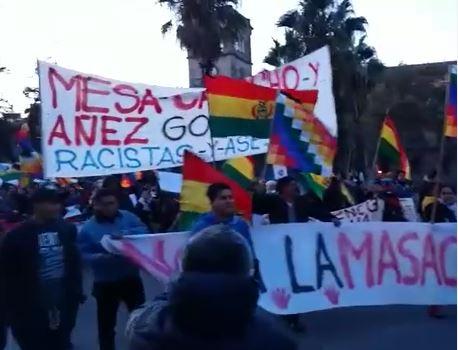 Barcelona, escenario de protestas a favor y en contra de Evo Morales