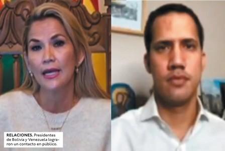 Bolivia-y-Venezuela,-inician-relacion-con-el-mando-de-Anez-y-Guaido