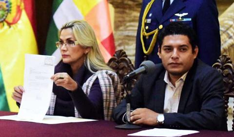 Añez remite al Legislativo proyecto de ley para convocar a elecciones y elegir vocales