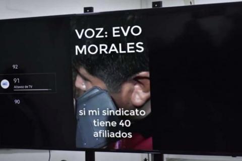 Envían a Colombia audio en el que se escucha a Evo organizar cerco a ciudades