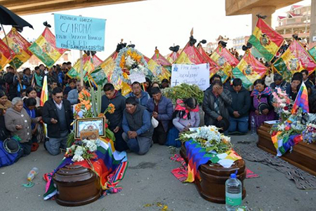Morales afirma que las muertes de Senkata no quedarán impunes