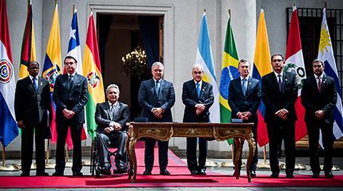 Ocho-paises-suscriben-Declaracion-del-Prosur;-Bolivia-asistio-pero-no-firmo