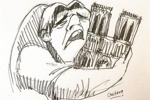Artista-ecuatoriana-rinde-homenaje-a-Notre-Dame-y-su-creacion-se-hace-viral-