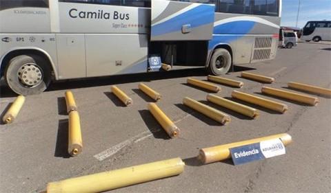 Hallan-mas-de-274-kilos-de-marihuana-en-un-bus-que-iba-a-Chile