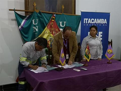 Itacamba firma alianza con la UNITEPC de Puerto Quijarro