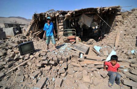 Potente-sismo-en-selva-de-Peru,-un-muerto,--11-heridos-y---51-familias-damnificadas