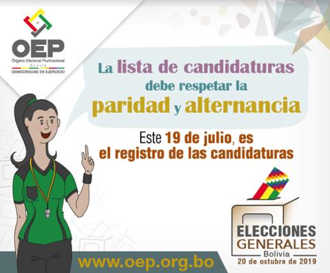 Las candidaturas deben presentar 11 requisitos hasta el 19 de julio