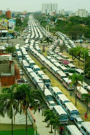 Protesta-del-transporte-colapso-el-transito-en-la-ciudad