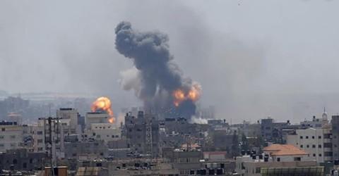 Milicianos-en-Gaza-vuelven-a-lanzar-cohetes-contra-Israel