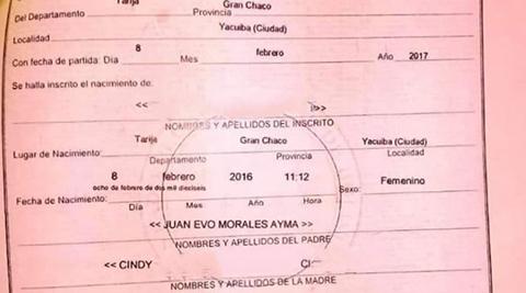 Verifican-en-Registro-Civil-que-Evo-aparece-como-padre-de-una-nina