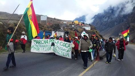 Cocaleros-de-Yungas-marcharan-para-exigir-declaratoria-de-desastre-nacional