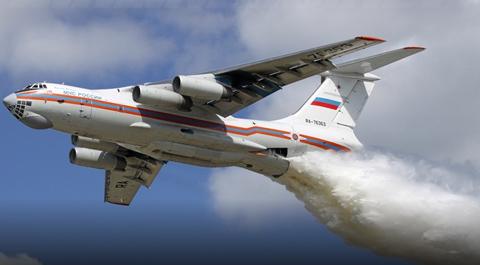 El-Gobierno-manda-el-avion-Ilyushin-para-sofocar-el-incendio-en-Bella-Vista