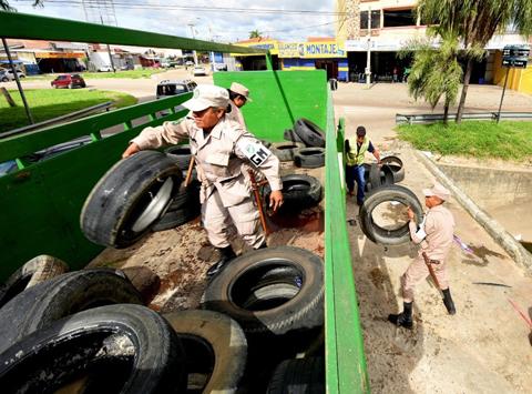 Municipio recolecta 3.500 llantas para prevenir dengue