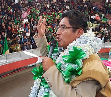 Patzi: Si David Choquehuanca va como candidato del MAS, yo podría declinar mi postulación