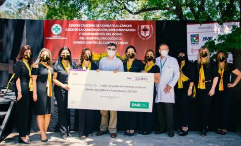 BNB apoya la construcción de DOMO hospitalario para pacientes con cáncer y COVID-19