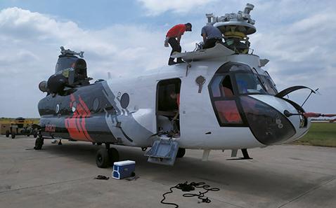 Helicóptero Chinook llegó al país para mitigar incendios