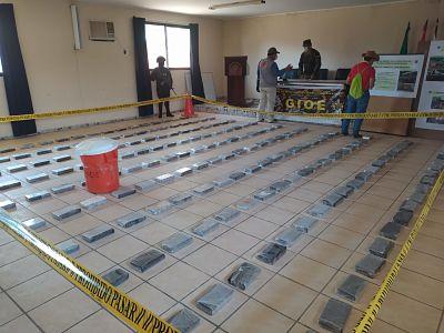 Secuestran más de 345 kilos de cocaína y 54 de pasta base en el TIPNIS en Beni