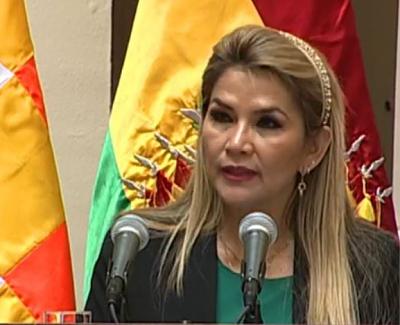 Jeanine Áñez: 'Estaremos alertas al desempeño del MAS en el cuidado de la libertad y respeto a la ley'