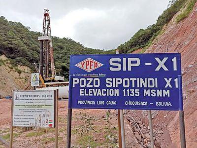 Verifican que pozo chuquisaqueño Sipontindi X1 tiene el doble de reservas de gas