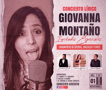 Óperas y zarzuelas de la voz de Giovanna Montaño
