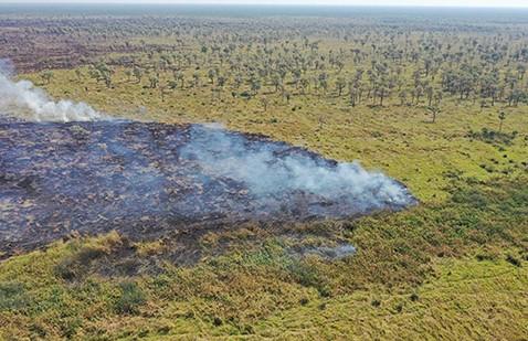 Incendio-en-Copaibo-controlado,-restan-18-por-extinguir