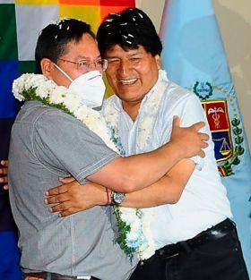 El presidente Luis Arce cosecha el respaldo unánime del MAS y abraza a Evo Morales