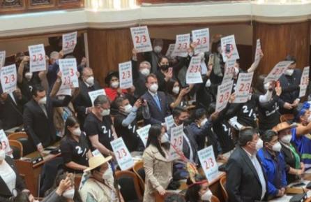 El TCP declara improcedente la acción constitucional para reponer los 2/3 en el Legislativo